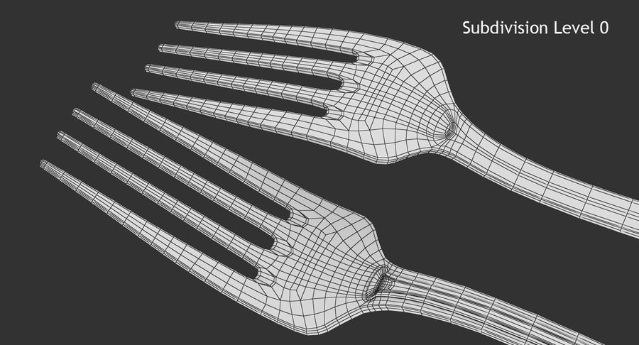 Fork royalty-free 3d model - Preview no. 11