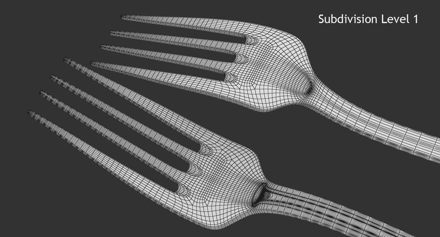 Fork royalty-free 3d model - Preview no. 12