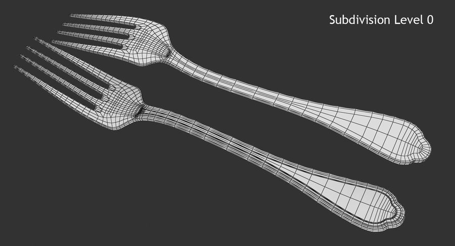Fork royalty-free 3d model - Preview no. 9