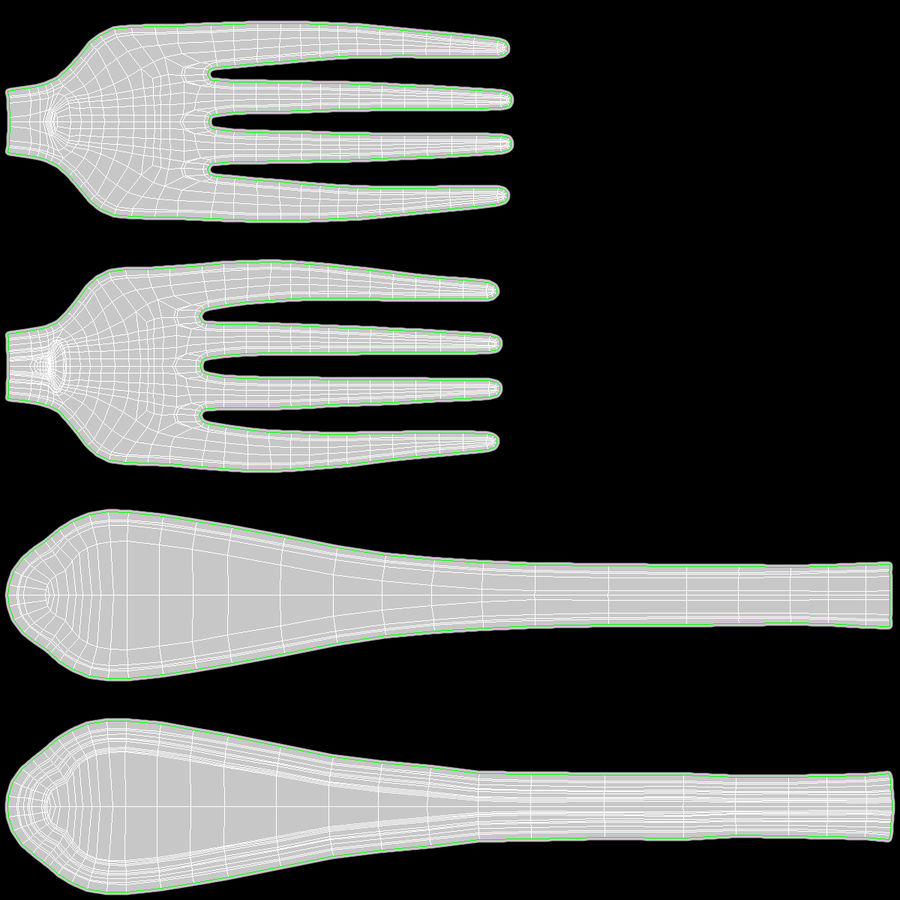 Fork royalty-free 3d model - Preview no. 16