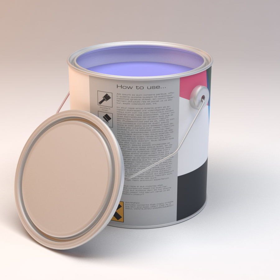 Paint Can royalty-free 3d model - Preview no. 2