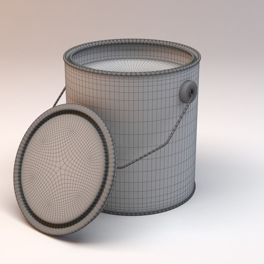 Paint Can royalty-free 3d model - Preview no. 3
