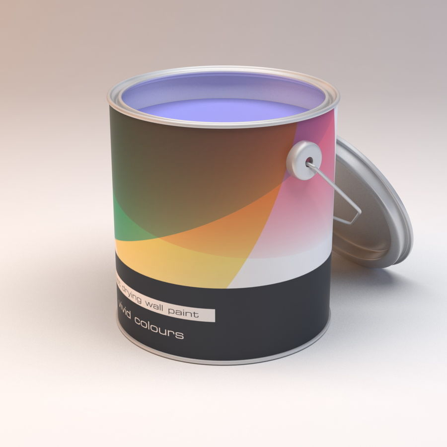 Paint Can royalty-free 3d model - Preview no. 4