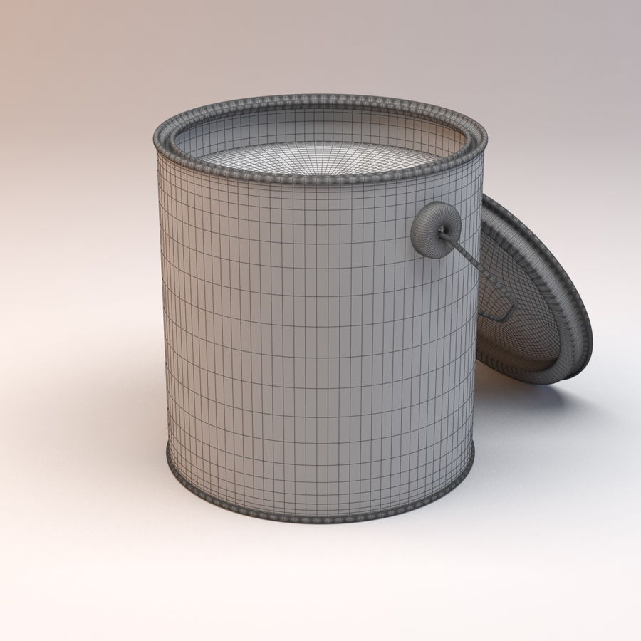 Paint Can royalty-free 3d model - Preview no. 5