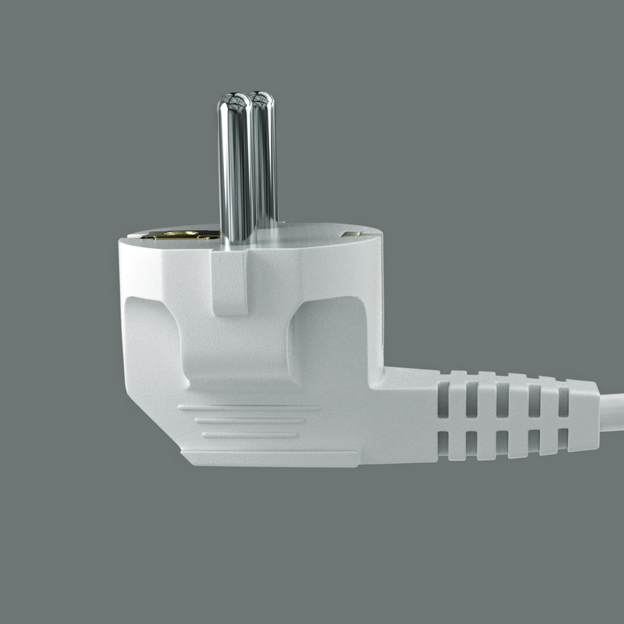 Euro plug royalty-free 3d model - Preview no. 4