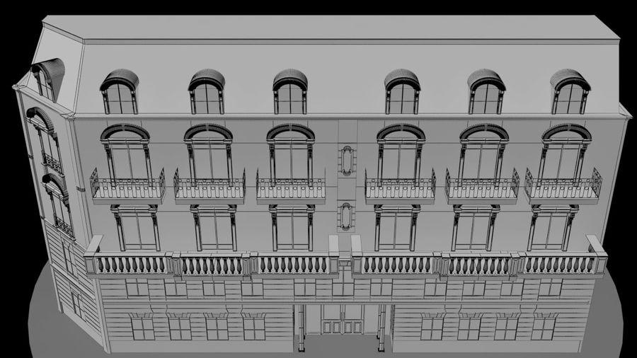 Gebouw van Parijs Haussmann royalty-free 3d model - Preview no. 5