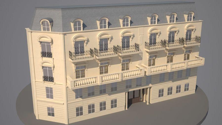Gebouw van Parijs Haussmann royalty-free 3d model - Preview no. 2
