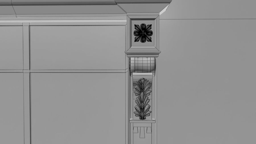 파리 오스만 빌딩 royalty-free 3d model - Preview no. 6