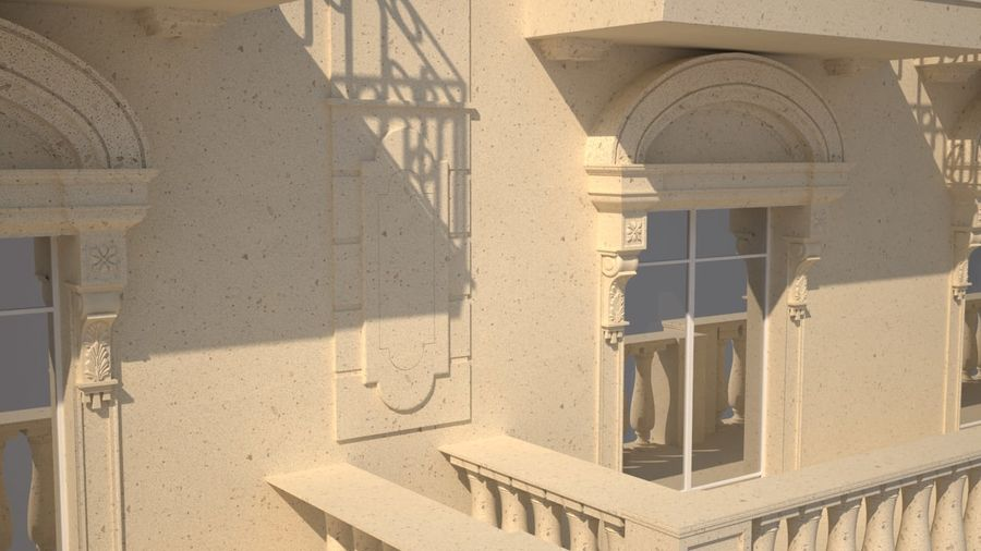 Gebouw van Parijs Haussmann royalty-free 3d model - Preview no. 4