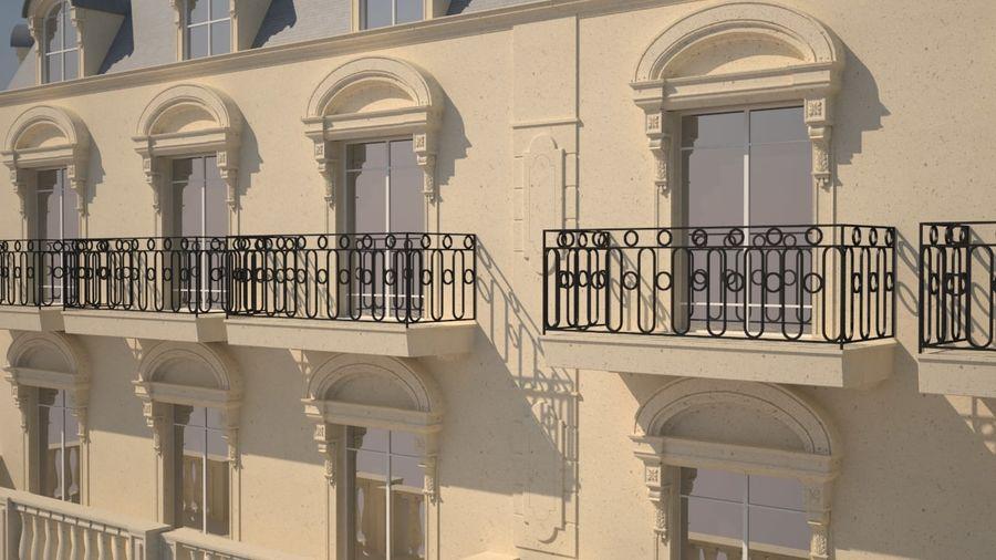 Gebouw van Parijs Haussmann royalty-free 3d model - Preview no. 3
