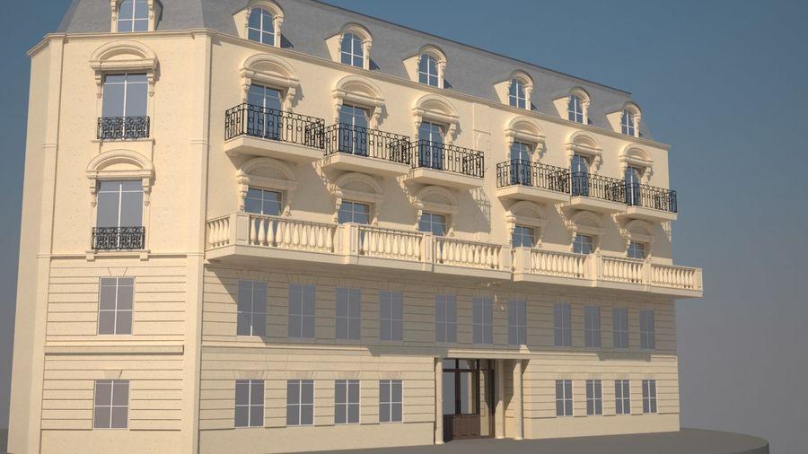 Gebouw van Parijs Haussmann royalty-free 3d model - Preview no. 1