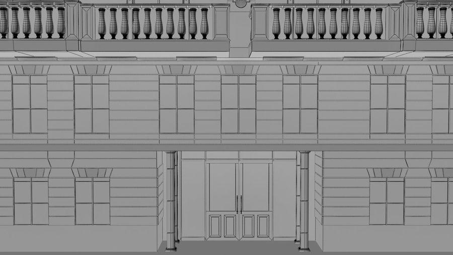 Gebouw van Parijs Haussmann royalty-free 3d model - Preview no. 7