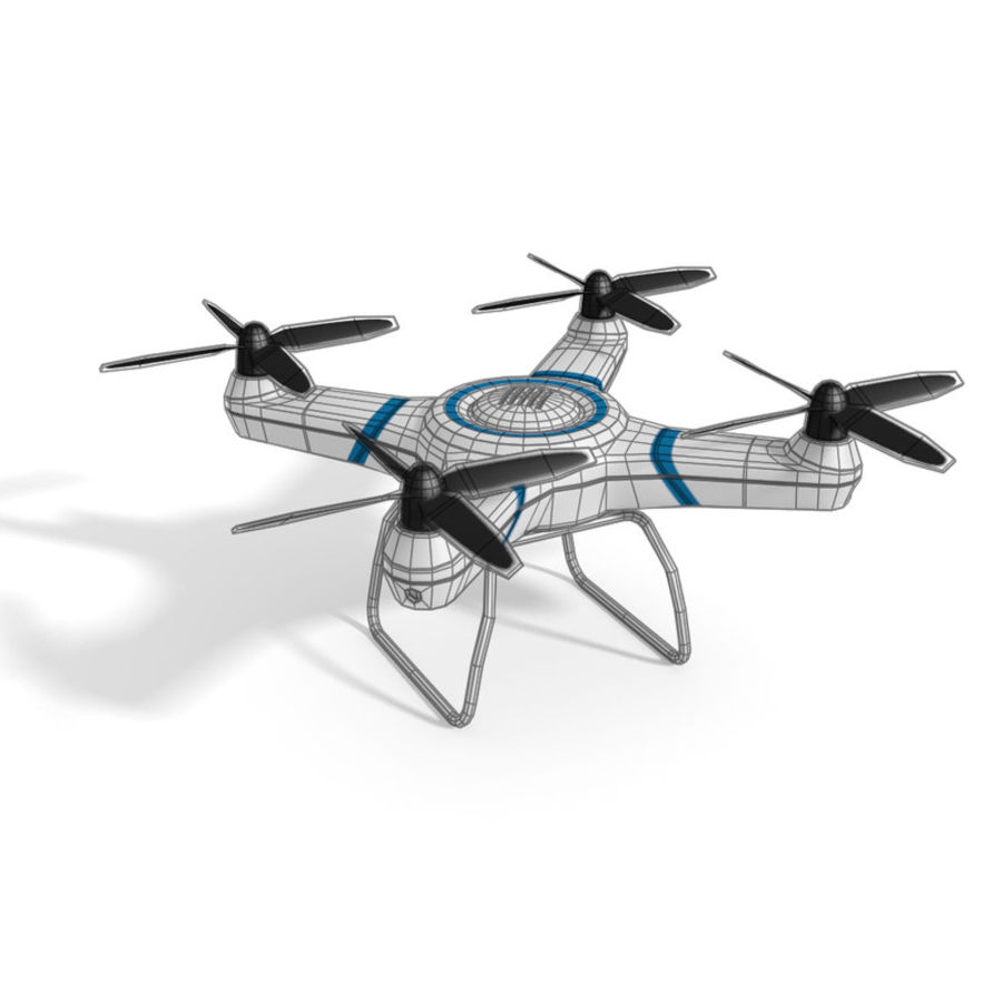 Drone quadcopter royalty-free 3d model - Preview no. 2