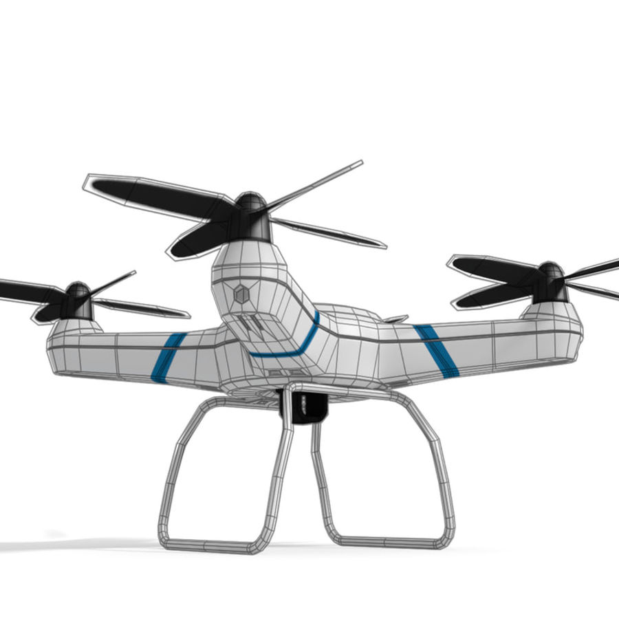 Drone quadcopter royalty-free 3d model - Preview no. 4