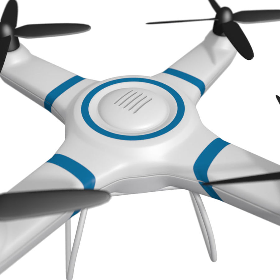 Drone quadcopter royalty-free 3d model - Preview no. 5
