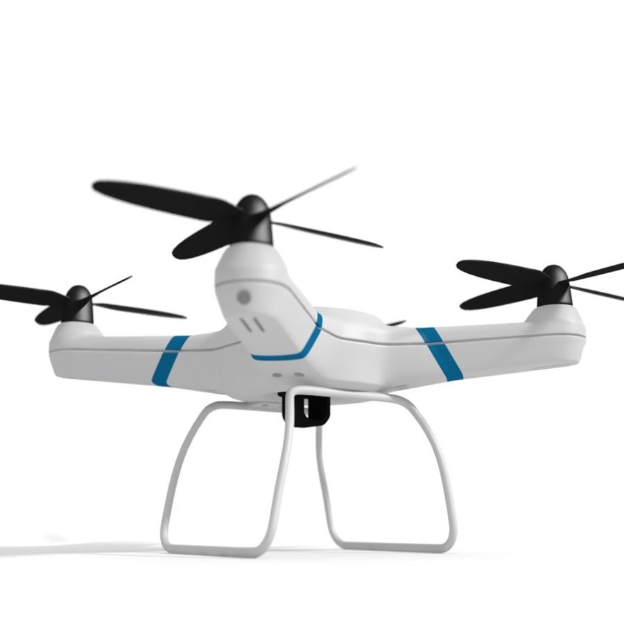 Drone quadcopter royalty-free 3d model - Preview no. 3