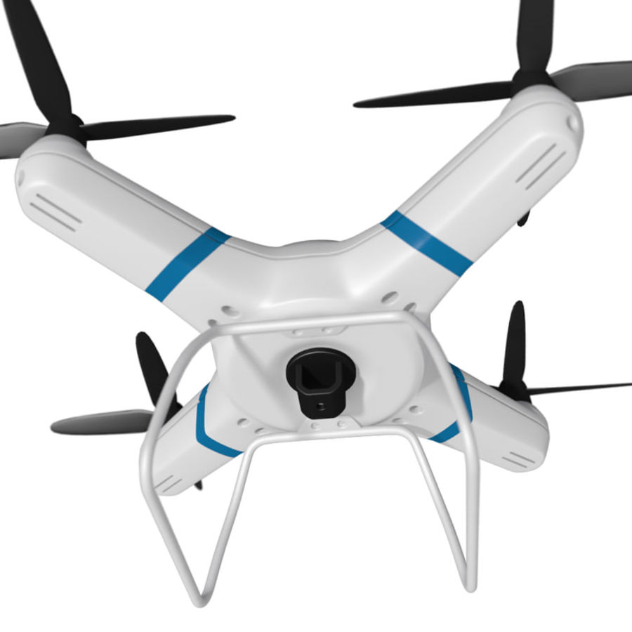 Drone quadcopter royalty-free 3d model - Preview no. 6