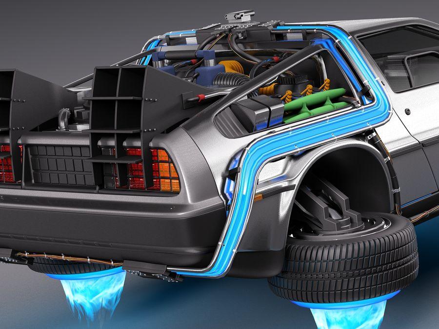 Back To The Future Delorean Episode 2 Future royalty-free 3d model - Preview no. 4