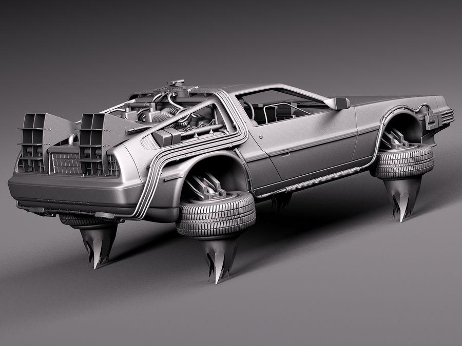Back To The Future Delorean Episode 2 Future royalty-free 3d model - Preview no. 14
