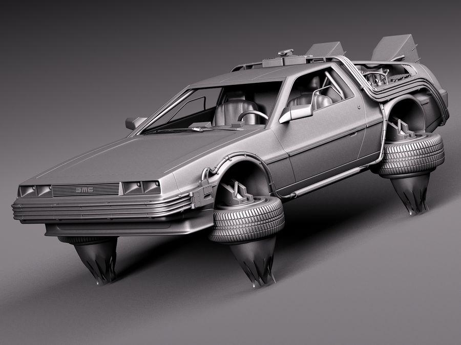 Back To The Future Delorean Episode 2 Future royalty-free 3d model - Preview no. 11