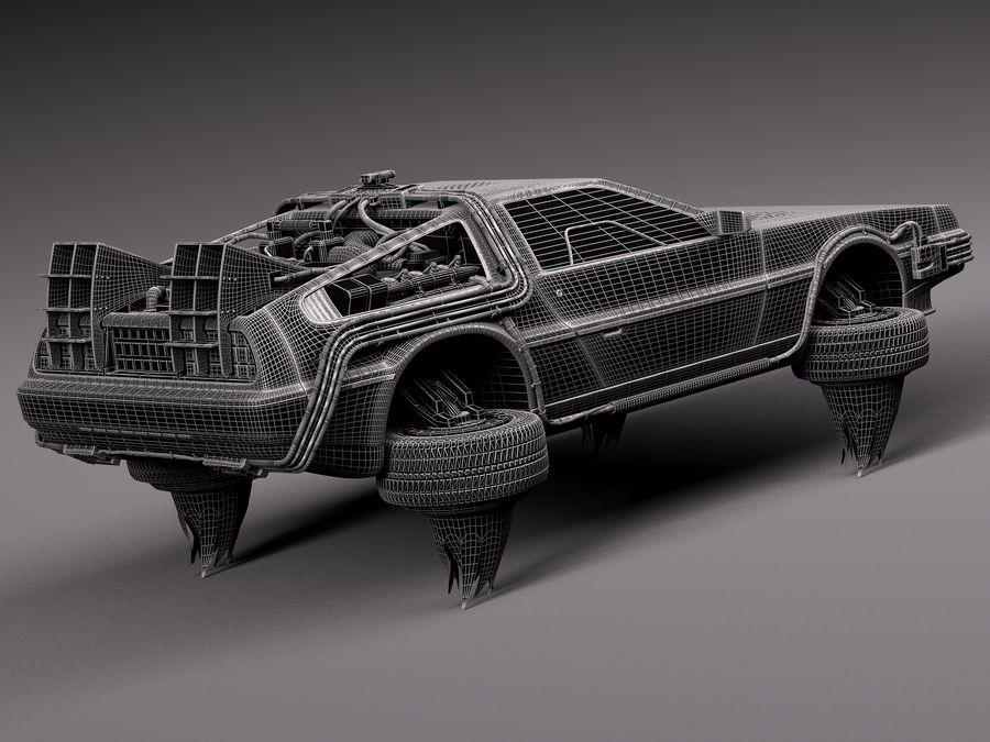 Back To The Future Delorean Episode 2 Future royalty-free 3d model - Preview no. 16