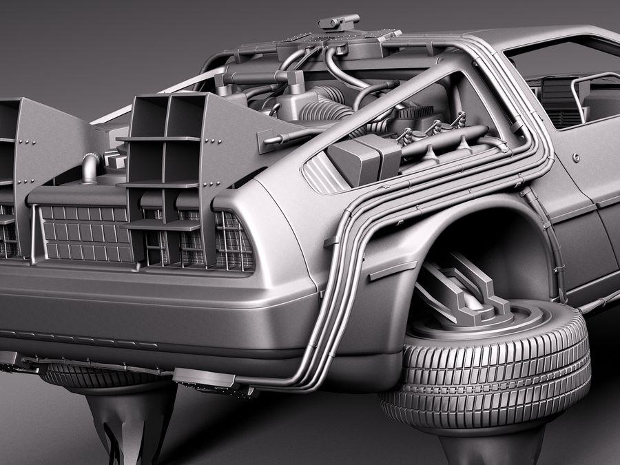 Back To The Future Delorean Episode 2 Future royalty-free 3d model - Preview no. 13