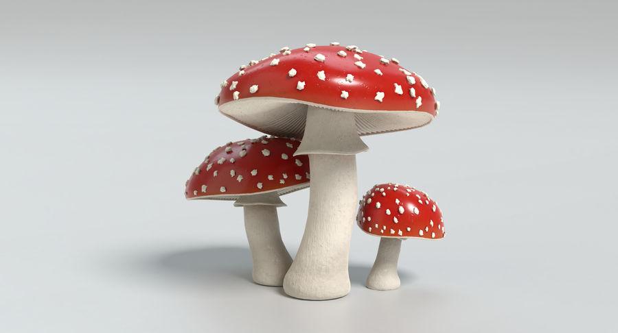 Amanita Mushrooms royalty-free 3d model - Preview no. 11