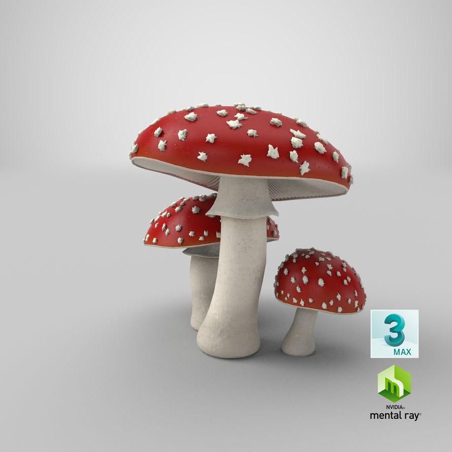 Amanita Mushrooms royalty-free 3d model - Preview no. 19