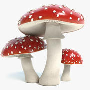 Amanita Mushrooms 3d model