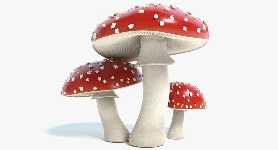 Amanita Mushrooms royalty-free 3d model - Preview no. 2