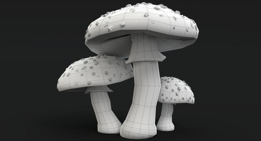 Amanita Mushrooms royalty-free 3d model - Preview no. 13