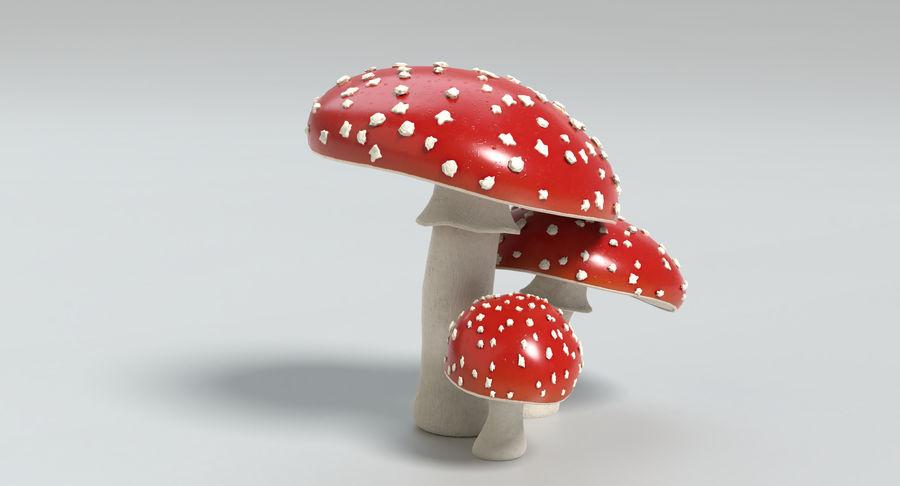 Amanita Mushrooms royalty-free 3d model - Preview no. 9