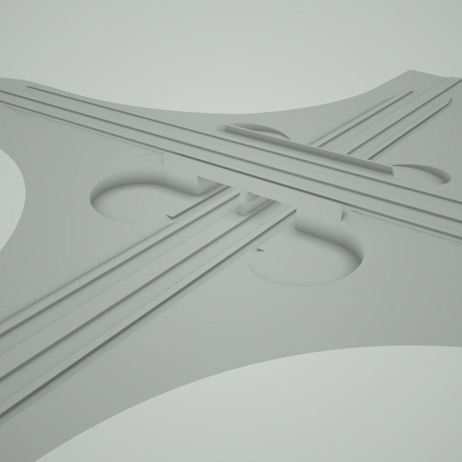 Freeway Interchange royalty-free 3d model - Preview no. 4