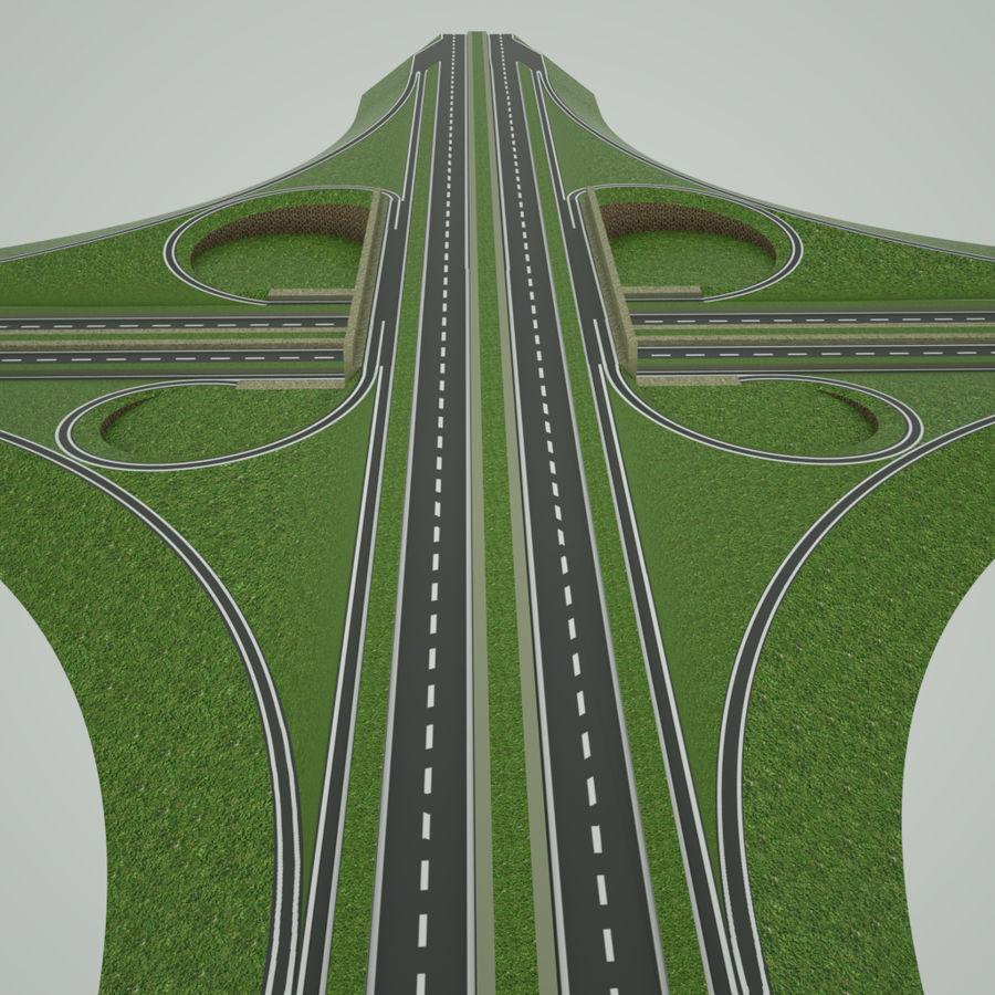 Freeway Interchange royalty-free 3d model - Preview no. 5