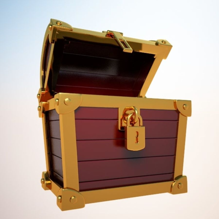 Crate Chest royalty-free 3d model - Preview no. 5