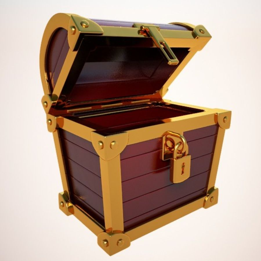 Crate Chest royalty-free 3d model - Preview no. 1