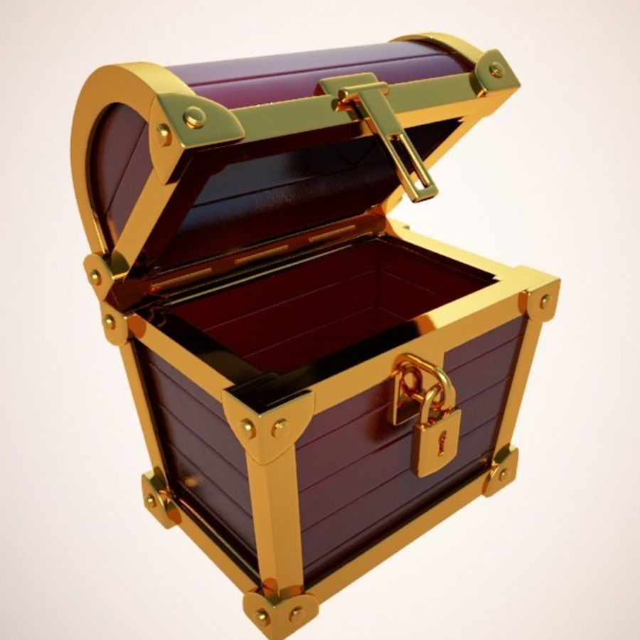 Crate Chest royalty-free 3d model - Preview no. 2
