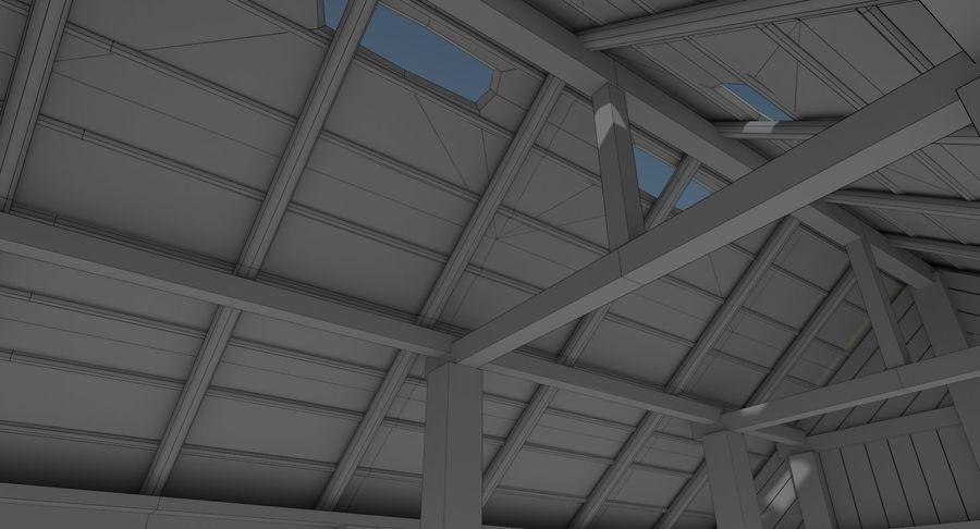 Dom Wikingów jeden z wnętrzem teksturowanym royalty-free 3d model - Preview no. 19