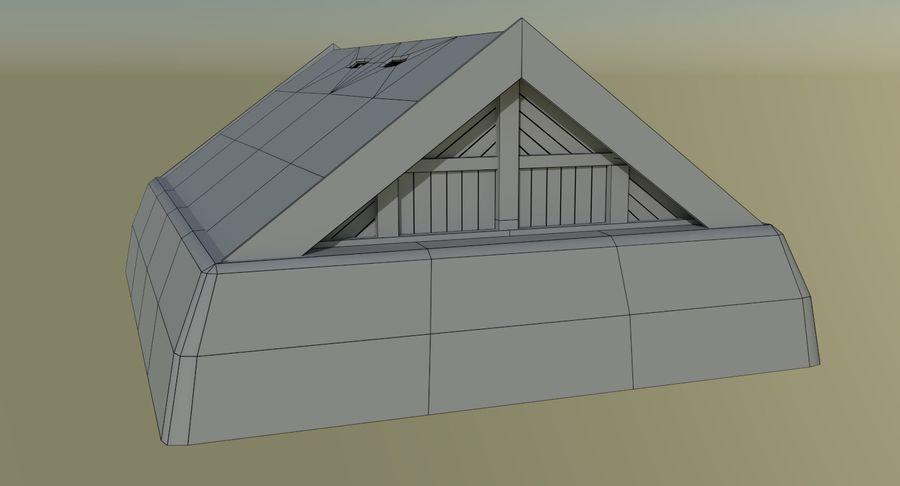Dom Wikingów jeden z wnętrzem teksturowanym royalty-free 3d model - Preview no. 15