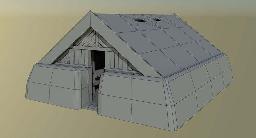 Dom Wikingów jeden z wnętrzem teksturowanym royalty-free 3d model - Preview no. 13