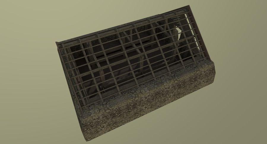 Dom Wikingów jeden z wnętrzem teksturowanym royalty-free 3d model - Preview no. 12