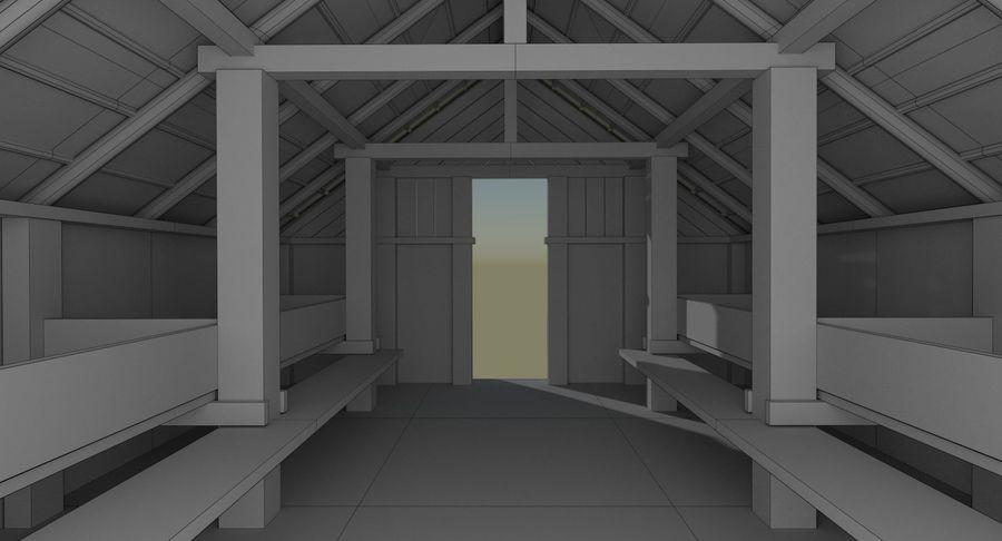 Dom Wikingów jeden z wnętrzem teksturowanym royalty-free 3d model - Preview no. 20