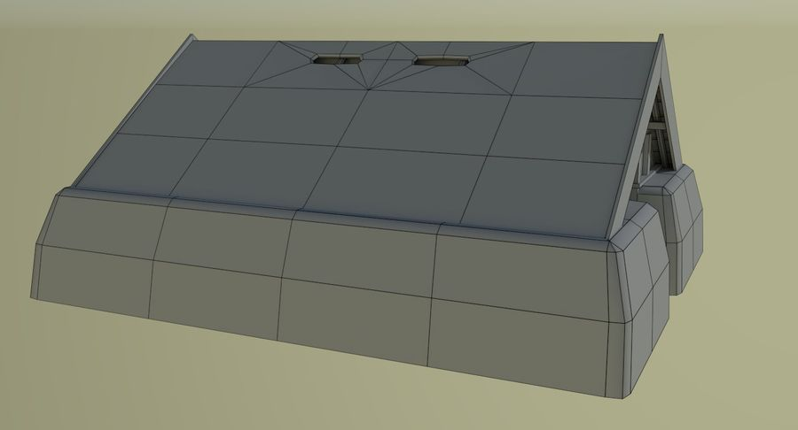 Dom Wikingów jeden z wnętrzem teksturowanym royalty-free 3d model - Preview no. 14