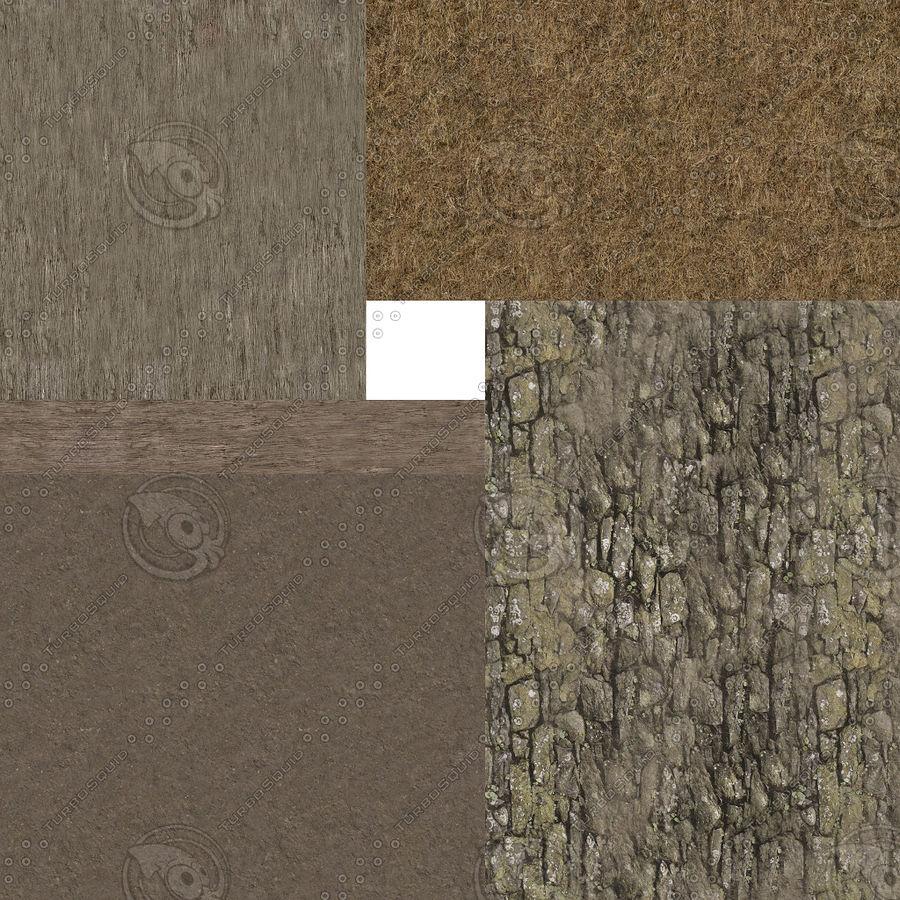 Dom Wikingów jeden z wnętrzem teksturowanym royalty-free 3d model - Preview no. 23