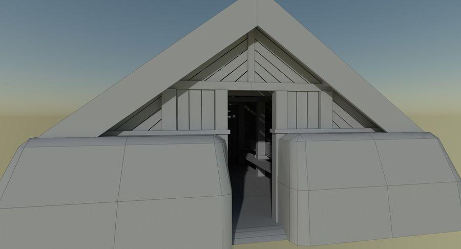 Dom Wikingów jeden z wnętrzem teksturowanym royalty-free 3d model - Preview no. 16
