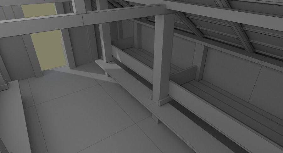 Dom Wikingów jeden z wnętrzem teksturowanym royalty-free 3d model - Preview no. 21