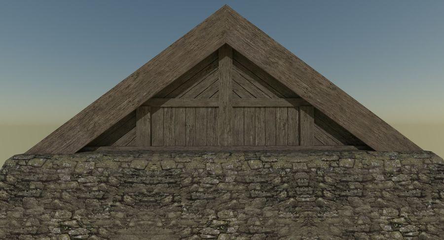 Dom Wikingów jeden z wnętrzem teksturowanym royalty-free 3d model - Preview no. 7