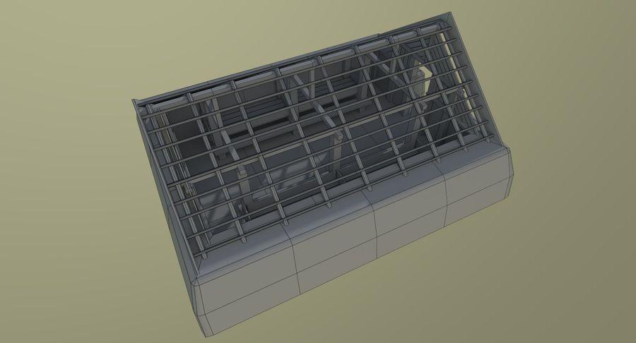 Dom Wikingów jeden z wnętrzem teksturowanym royalty-free 3d model - Preview no. 22