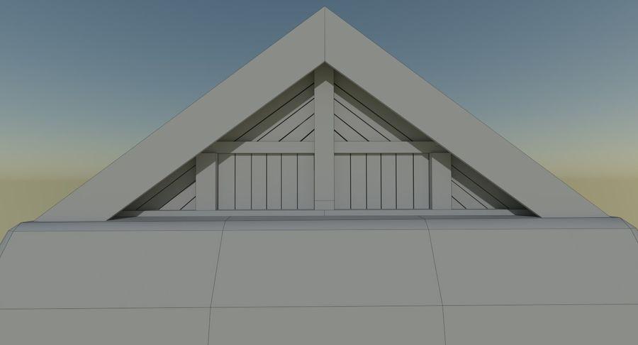 Dom Wikingów jeden z wnętrzem teksturowanym royalty-free 3d model - Preview no. 17