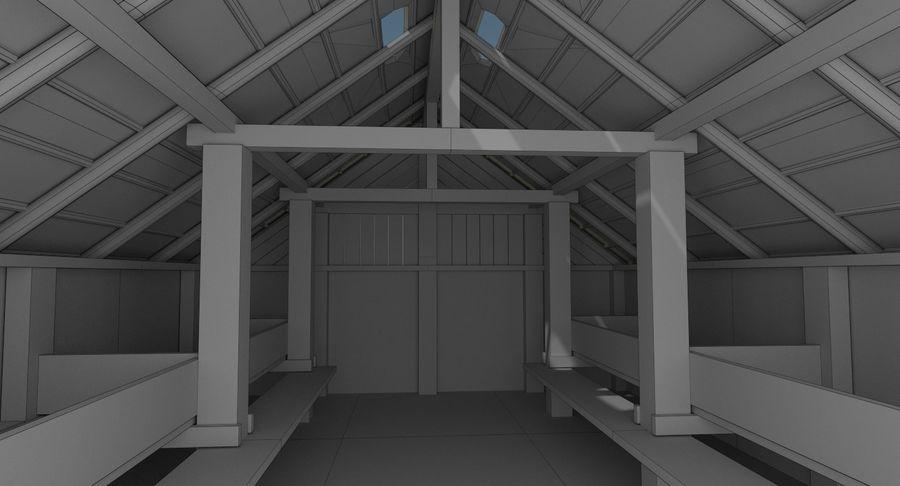 Dom Wikingów jeden z wnętrzem teksturowanym royalty-free 3d model - Preview no. 18